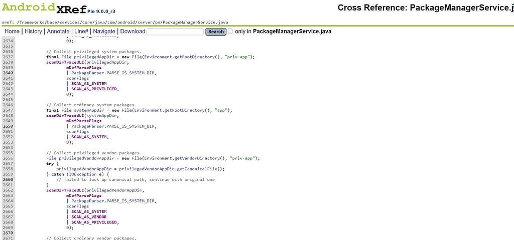 PackageManagerService scanDirTracedLI()