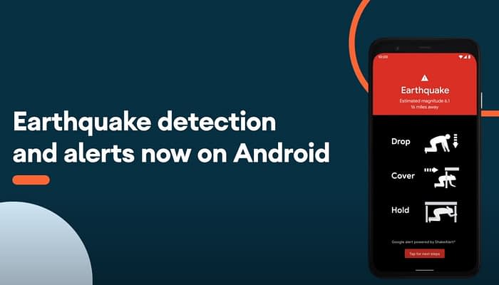 Earthquake detection and alert, now on Android