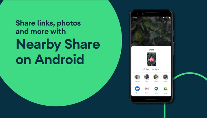Android's 'Nearby Share', file sharing feature finally arrived.