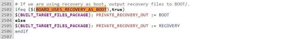 output recovery file to boot partition in implementing AB update