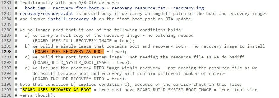 Creating single image that contain boot and recovery both in implement AB update